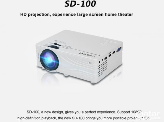 Owlenz SD100 HD WiFi Projector – 2000 Lumens 720p WiFi Home Projector