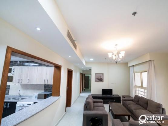 2BHK SPACIOUS FULLY FURNISHED NEW APARTMENT FOR RENT IN AL MUNTHAZA (FOR FAMILY)