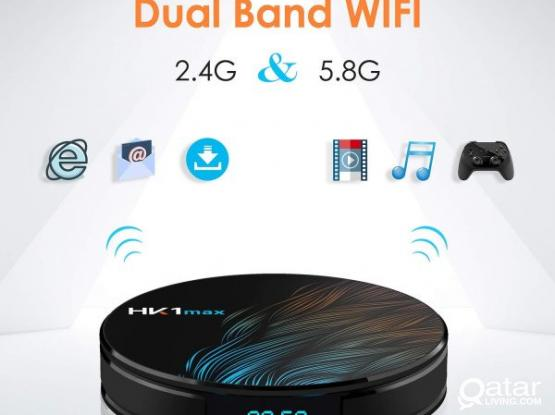 HK1 Max Android 9.0 TV Box 4GB RAM 64GB ROM BT 4.1 RK3318 Support Dual-WiFi 2.4GHz/5GHz Android TV B