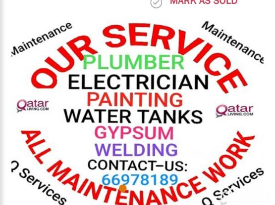 ELECTRICIAN, PLUMBING, GYPSUM, PARTITION, Aad CCTV ALL MAINTENANCES WORK CALL ME 66978189