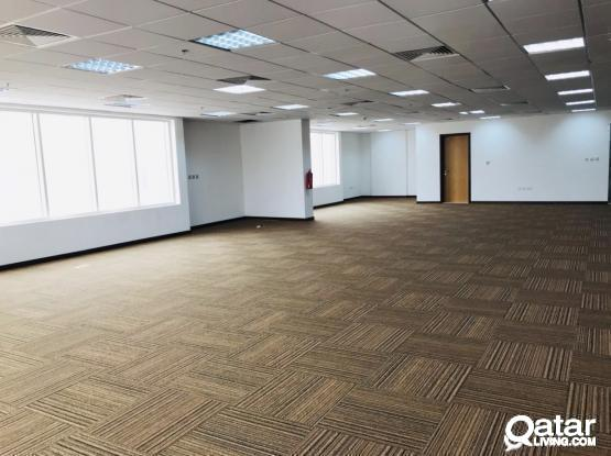3 months free 300 Sqm to 1000 Sqm at Qr 45/Sqm for Offices