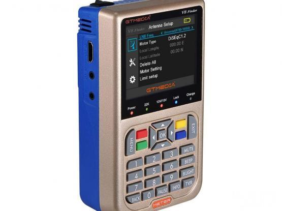GTMEDIA Freesat V8 Digital Satellite Finder Meter Spectrum TV Signal Finder Meter DVB-S/S2/S2X HD Di