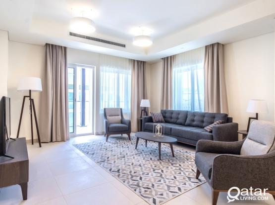 New Luxury 1BHK Apt+Balcony&Bills-Lusail Marina