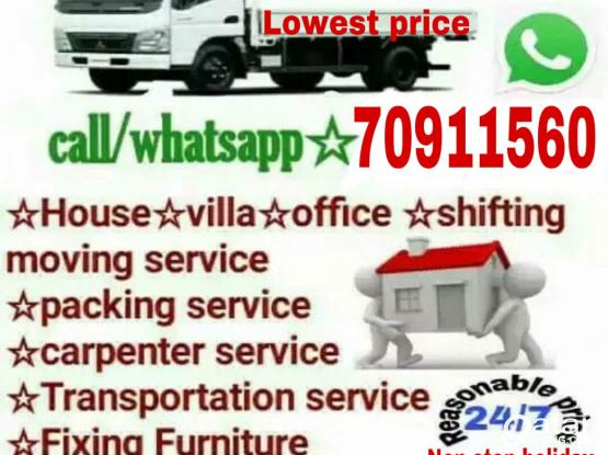Lowest price- Moving/Shifting/Carpenter transport service please call me-70911560