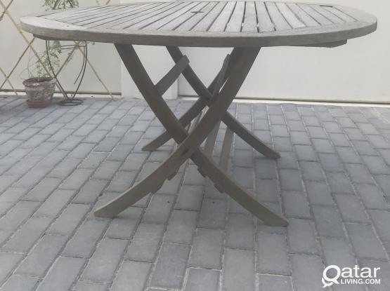 Wooden IKEA garden table