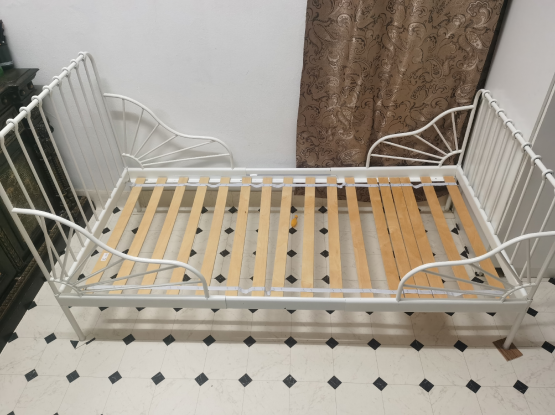 Ikea Bed 3 step adjustable for kids with mattress