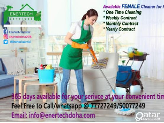 Female Cleaner for House/Office/Hotels