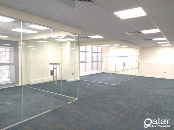 235 Sqm Glass Partitioned Office Space Available in Bank Street