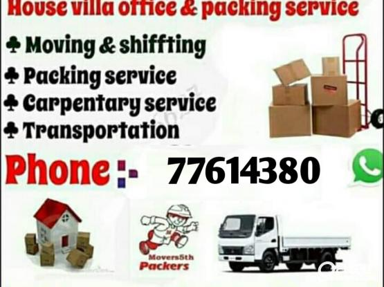 Moving & Shifting all over qatar. 24 Hour service. Please contact 77614380