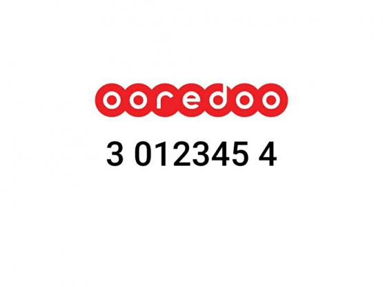 3 012345 4 ooredoo fancy mobile number