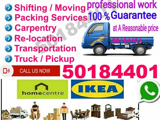 We do Less Price Professional Moving Services Shifting House/Villa & Office Furniture,+974 50184401