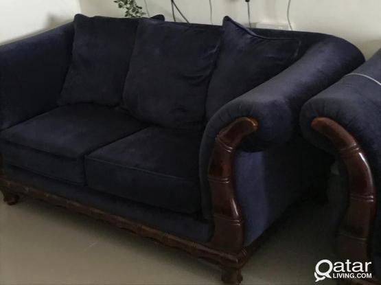Sofa set 3+2+1+1 with Cushions and Rug
