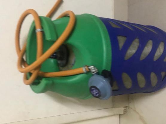 Empty Shafaf Gas Cylinder And Stove Regulator Hose
