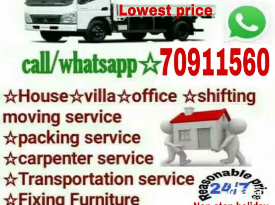 Low prices-Moving/Shifting/Carpenter transport service please call me-70911560