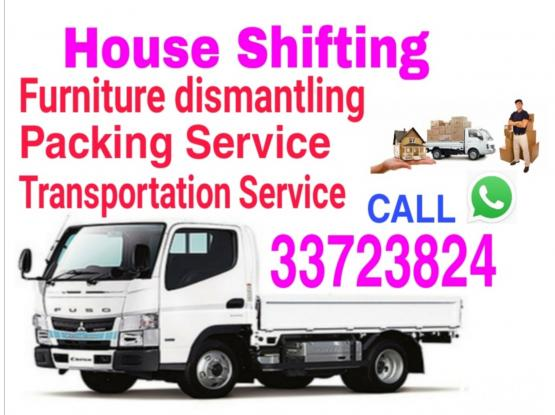 We do Shifting Moving,Truck/Pickup available Service,Call 33723824 WhatsApp,I have a tool box Furniture dismantling and fixing,Packing & Transportation Service.