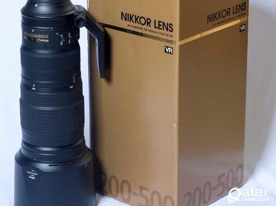 Nikkor 200-500 f5.6 VR Lens For Sale
