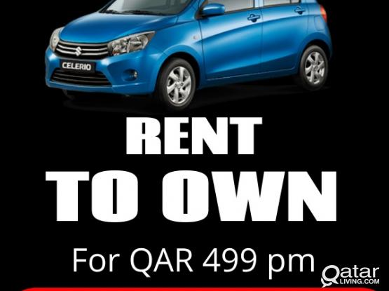 RENT TO OWN Pre-Owned Suzuki CELERIO-2015 for only QAR.499/p.m.