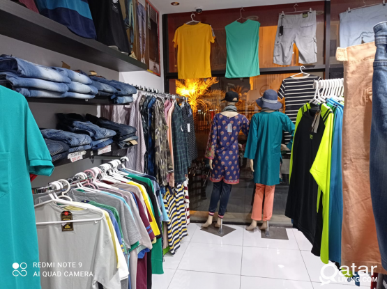 Garments fully furnished shop for sale