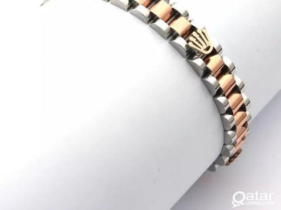 CrownStainless steel Cuff Chain Link Bracelet