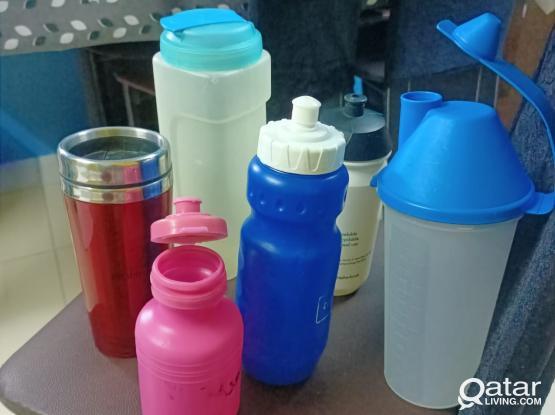 Water bottles and lemon squeezer