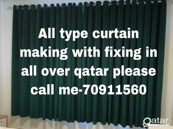 We are doing all type Curtain  Making/Fixing with carpet sell/Fixingcall me-70911560