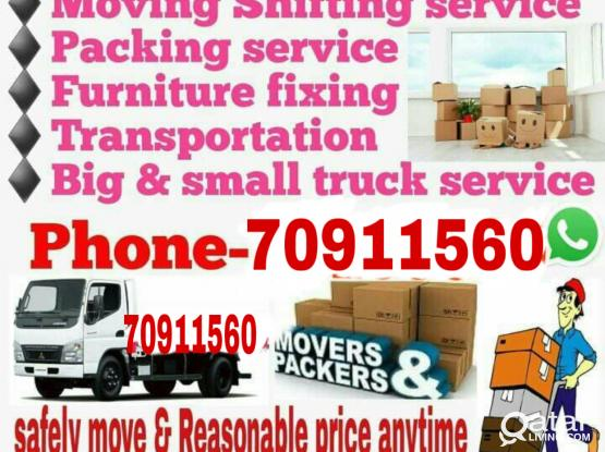 Lowest price- Moving/Shifting/packing with carpenter service call me-70911560
