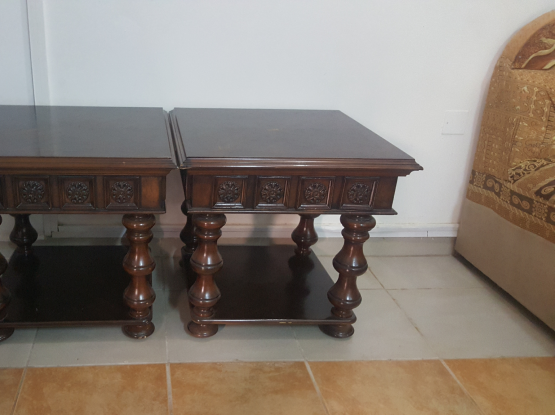 Two tables for sale ( Malaysian wood )