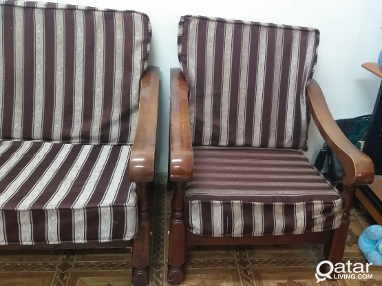 Sofa 2 seater + 1 seater only 145 qar plz call 700
