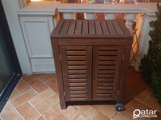 Ikea outdoor wooden storage unit (ÄPPLARÖ / KLASEN)
