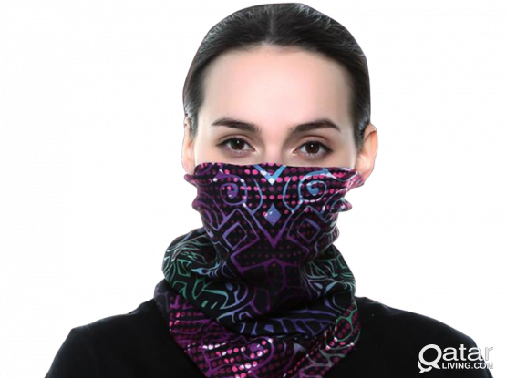 Tube Bandanna Scarves/ Face Shields