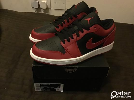 Air Jordan 1 Low Reverse Bred Size US 8,8.5,9,9.5 and 10 100% original  For 699 Only whatsup me @ 30013073