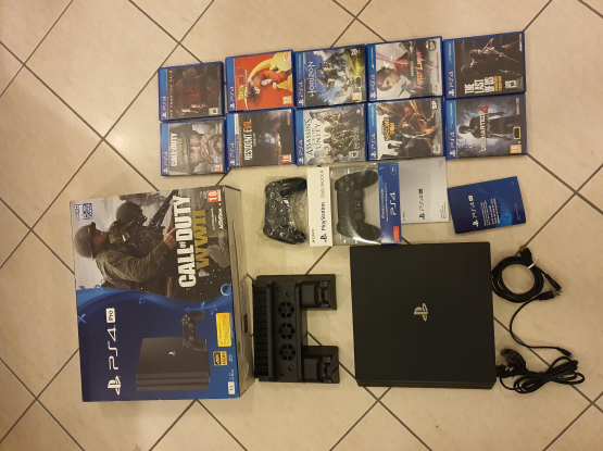 PS4 Pro 1TB + 10 games + 2 controllers