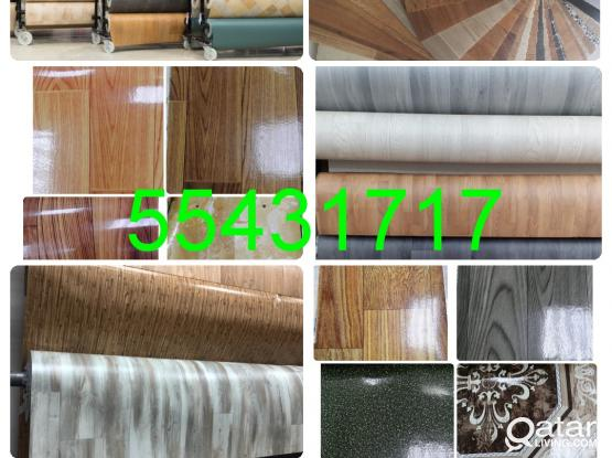 "Plastic Parquet PVC Plastic Vinyl  Flooring Mate  Sales And Fixing.  "" 55431717 """