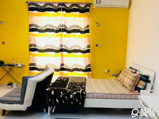 Fully furnished studio apartment - Near Ansar gallery old airport /access to Metrolink/Al thumama