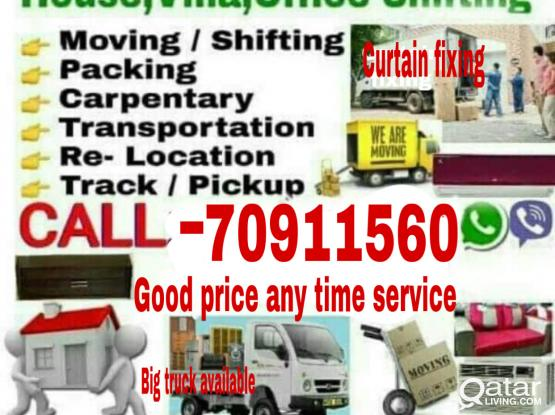 Good Prices -Moving/Shifting/Carpenter transport service please call me-70911560