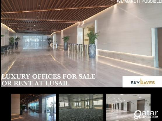 60 Sqm to 400 Sqm Luxurious Office space available in Lusail