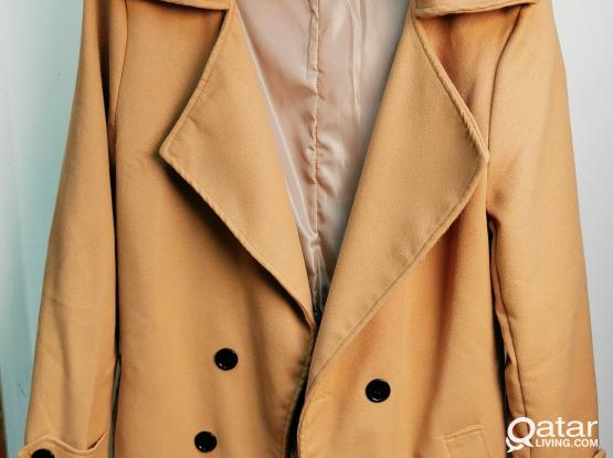 Light Brown Classic Slim Men's Coat by Sheechoshop (M)