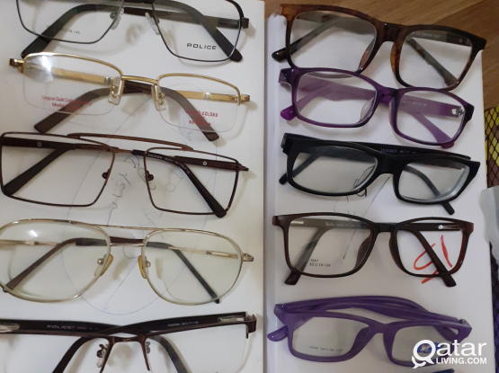 Here different types of spectacle frames are sold