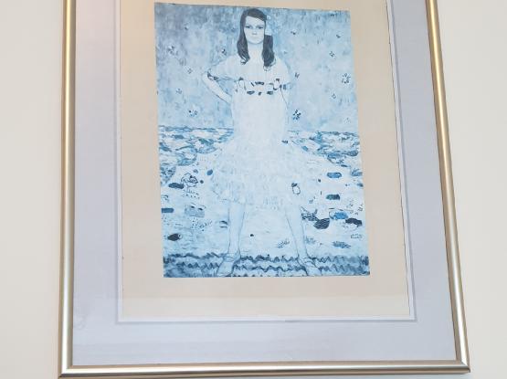 Klimt pictures in frames