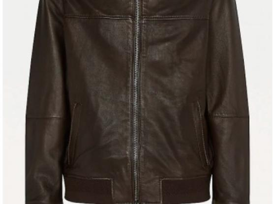 Tommy Hilfiger NAPPA LEATHER STAND-UP COLLAR BOMBER JACKET