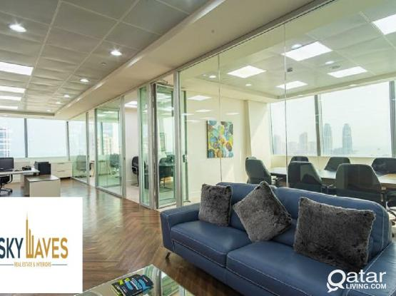 60 Sqm Fully Furnished Luxurious Office available in Lusail
