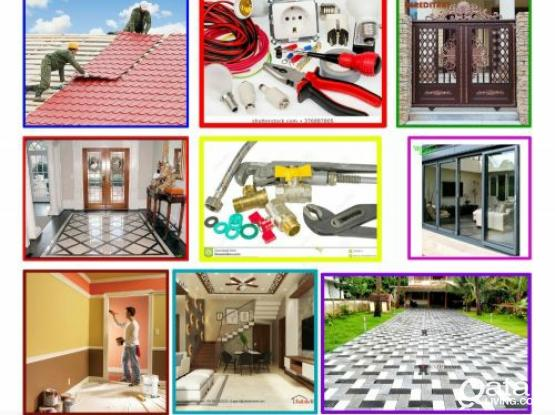 Electric, Plumbing, Painting, steel door, Parking gypsum decor, water proofing. Please call 55430755
