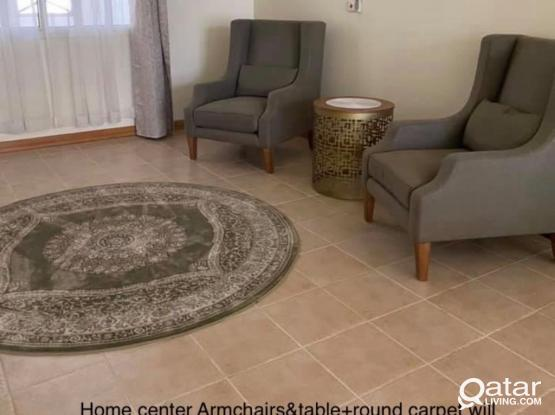 2Armchairs&table+carpet