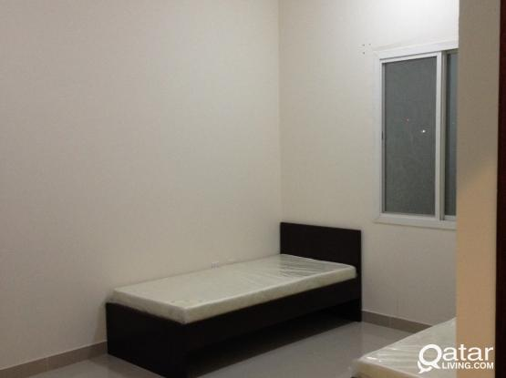 FULLY FURNISHED BED SPACE AVAILABLE IN A NEW FLAT IN NAJMA DOHA.