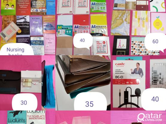 Nursing books, stationary, office supplies magnetic sheets,