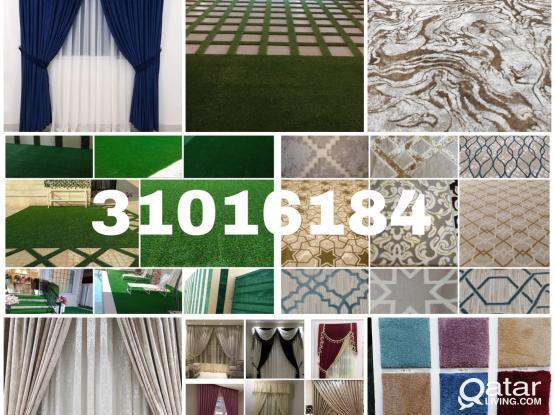 All types of CARPETS, kids room baby carpet(Soft Plastic),Masjid Carpet, SOFA, CURTAIN for sal