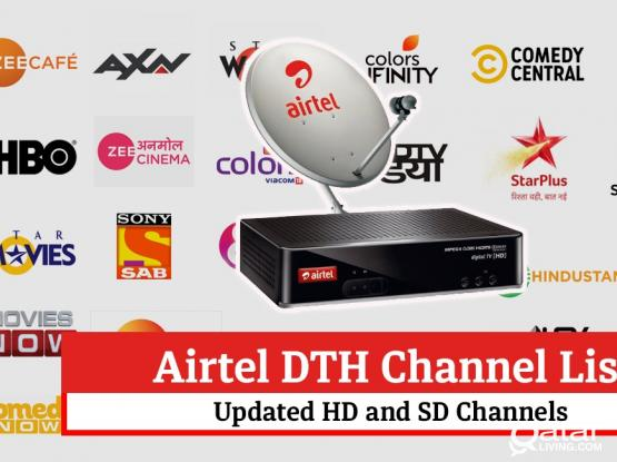 All kinds of satellites dish receiver sale 33083167 installation Airtel hd receiver big dish available WhatsApp
