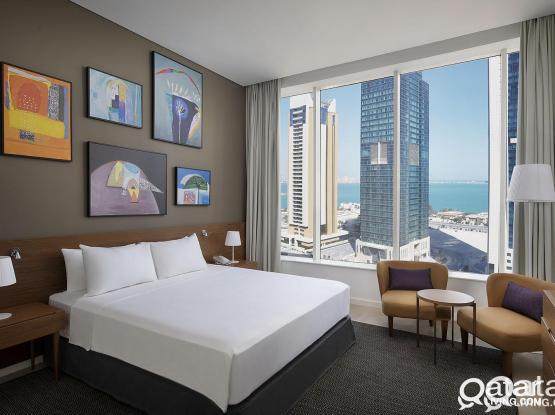 Aleph Doha Residences, Curio Collection by Hilton Brand New, High Floors 3 Bd Hotel Apt FF