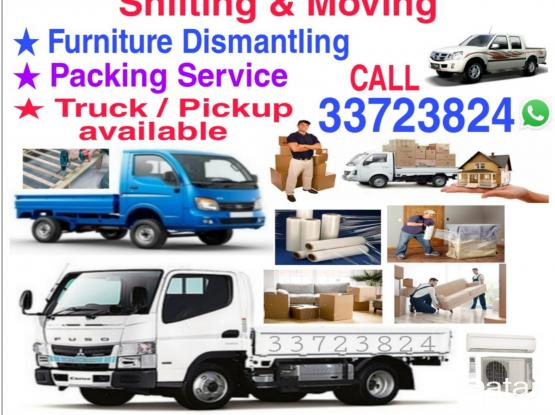 Best price for Shifting Moving Truck & Pickup available. Please Call 33723824 or WhatsApp. We will take care of your belongings.