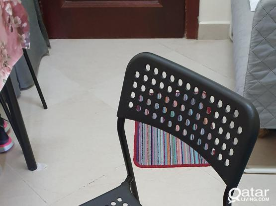 Chair (plastic & Steel) from IKEA ( 2 pcs)